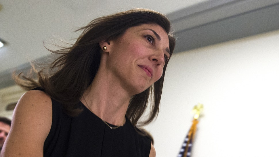 Lisa Page, former legal counsel to former FBI Director Andrew Mc Cabe, arrives on Capitol Hill July 13, 2018 to provide closed-door testimony about the texts critical of Donald Trump that she exchanged with her FBI agent lover during the 2016 presidential campaign.