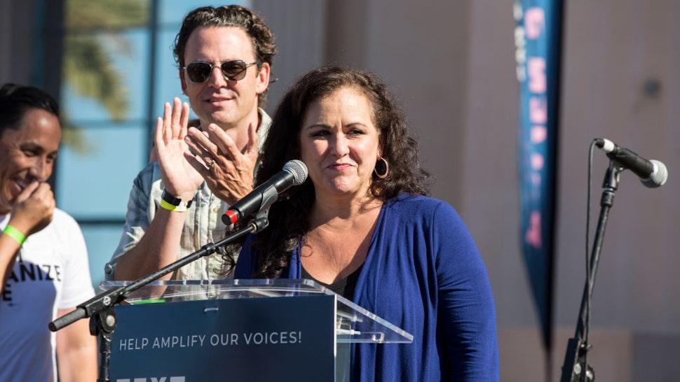 California State Assemblywoman Lorena Gonzalez-Fletcher speaks onstage at Women's March San Diego on January 19, 2019 in San Diego, California. (Photo by Daniel Knighton/Getty Images)