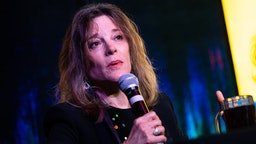 Marianne Williamson speaks onstage during The Chicago Reader Presents: Mobilize | LGBTQ Presidential Town Hall Viewing Party at Sidetrack The Video Bar on October 10, 2019 in Chicago, Illinois.