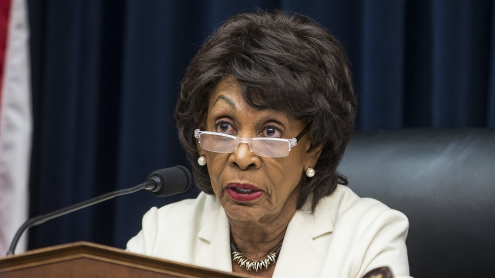 House Financial Services Committee Chairman Maxine Waters (D-CA) speaks during a House Financial Services Committee Hearing on Capitol Hill on April 9, 2019 in Washington, DC. U.S. Secretary of Treasury Steve Mnuchin is testifying on the state of the international financial system.