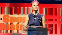 NEW YORK, NEW YORK - DECEMBER 09: Sports Illustrated Sportsperson of the Year Award Winner Megan Rapinoe speaks onstage during the Sports Illustrated Sportsperson Of The Year 2019 at The Ziegfeld Ballroom on December 09, 2019 in New York City.