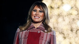 WASHINGTON, DC - DECEMBER 05: First Lady Melania Trump attends the 97th Annual National Christmas Tree Lighting Ceremony in President's Park on December 05, 2019 in Washington, DC.
