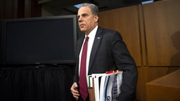 "UNITED STATES - DECEMBER 11: Justice Department Inspector General Michael Horowitz arrives to testify before the Senate Judiciary Committee for a hearing on ""Examining the Inspector General's report on alleged abuses of the Foreign Intelligence Surveillance Act (FISA) on Wednesday Dec. 11, 2019."