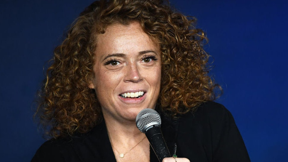 PASADENA, CALIFORNIA - DECEMBER 06: Comedian Michelle Wolf performs during her appearance at The Ice House Comedy Club on December 06, 2019 in Pasadena, California.