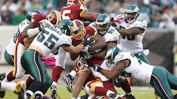 The Philadelphia Eagles during a game against the Washington Redskins on October 3, 2010 at Lincoln Financial Field in Philadelphia, Pennsylvania.