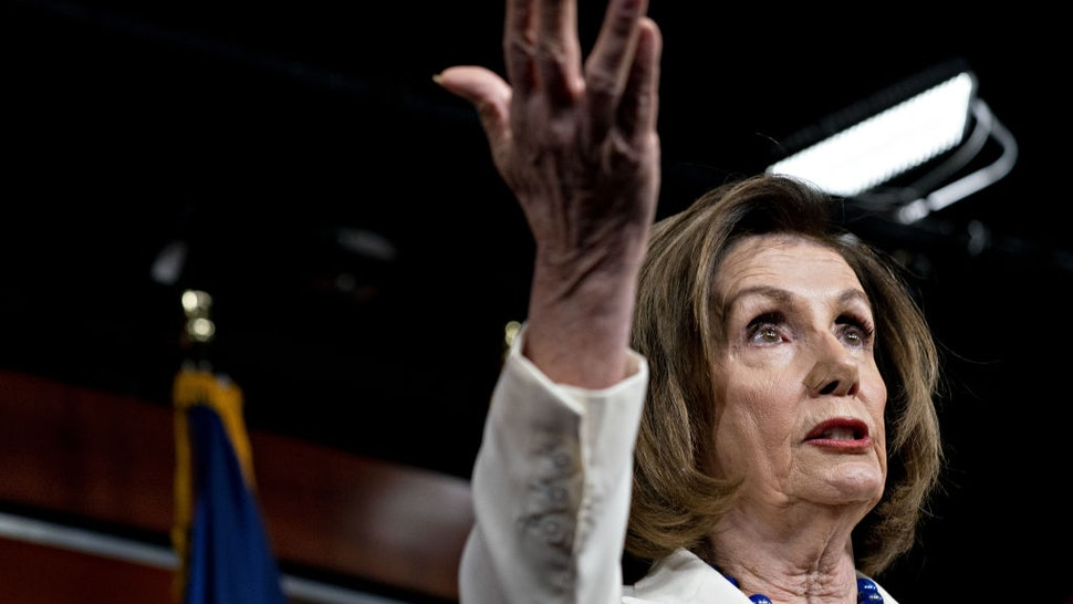 """U.S. House Speaker Nancy Pelosi, a Democrat from California, speaks during a news conference on Capitol Hill in Washington, D.C., U.S., on Thursday, Dec. 5, 2019. Pelosi said today that President Donald Trump's actions are a """"profound violation of the public trust"""" and she is asking Representative Jerry Nadler to proceed with drafting articles of impeachment. Photographer: Andrew Harrer/Bloomberg via Getty Images"""