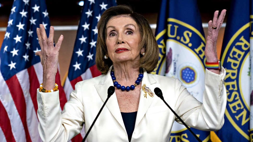"""U.S. House Speaker Nancy Pelosi, a Democrat from California, speaks during a news conference on Capitol Hill in Washington, D.C., U.S., on Thursday, Dec. 5, 2019. Pelosi said today that President Donald Trump's actions are a """"profound violation of the public trust"""" and she is asking Representative Jerry Nadler to proceed with drafting articles of impeachment."""