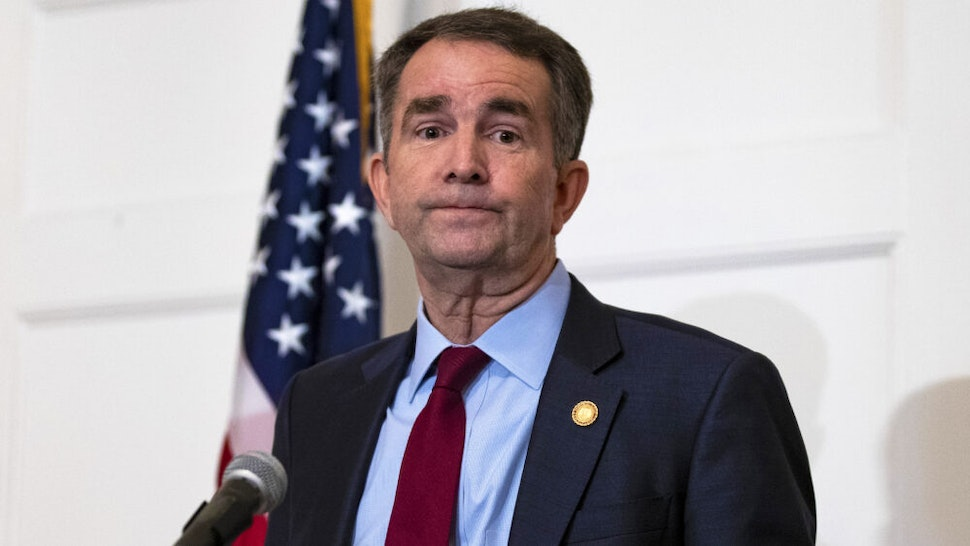 Virginia Governor Ralph Northam speaks with reporters at a press conference at the Governor's mansion on February 2, 2019 in Richmond, Virginia. Northam denies allegations that he is pictured in a yearbook photo wearing racist attire.