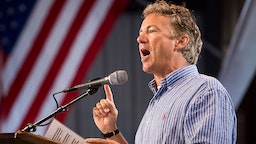 UNITED STATES - AUGUST 6: Sen. Rand Paul (R-KY) speaks at the annual Fancy Farm Picnic in Fancy Farm, Ky., on Saturday, Aug. 6, 2016.