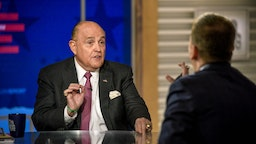 "Rudy Giuliani, Lawyer for President Donald Trump, appears on ""Meet the Press"" in Washington, D.C., Sunday, April 21, 2019. (Photo by: William B. Plowman/NBC/NBC Newswire/NBCUniversal via Getty Images)"