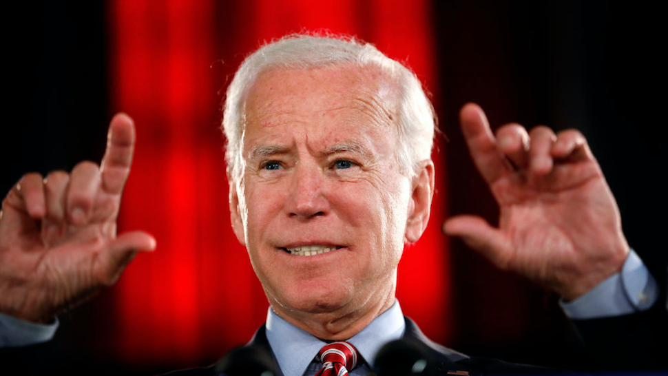 Democratic Presidential candidate Joe Biden lays out his economic policy plan to help rebuild the middle class during a campaign stop at the Scranton Cultural Center on October 23, 2019 in Scranton, Pennsylvania.