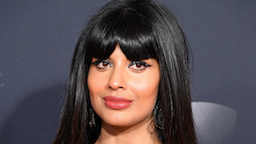 Jameela Jamil arrives at the 2019 American Music Awards at Microsoft Theater on November 24, 2019 in Los Angeles, California.