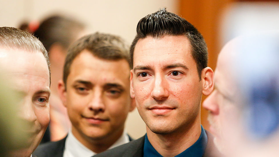David Daleiden, a defendant in an indictment stemming from a Planned Parenthood video he helped produce, arrives for court at the Harris County Courthouse after surrendering to authorities on February 4, 2016 in Houston, Texas.