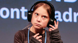 Swedish Climate activist Greta Thunberg attends the Youth Climate-Fridays press conference at La Casa Encendida on December 6, 2019 in Madrid, Spain.