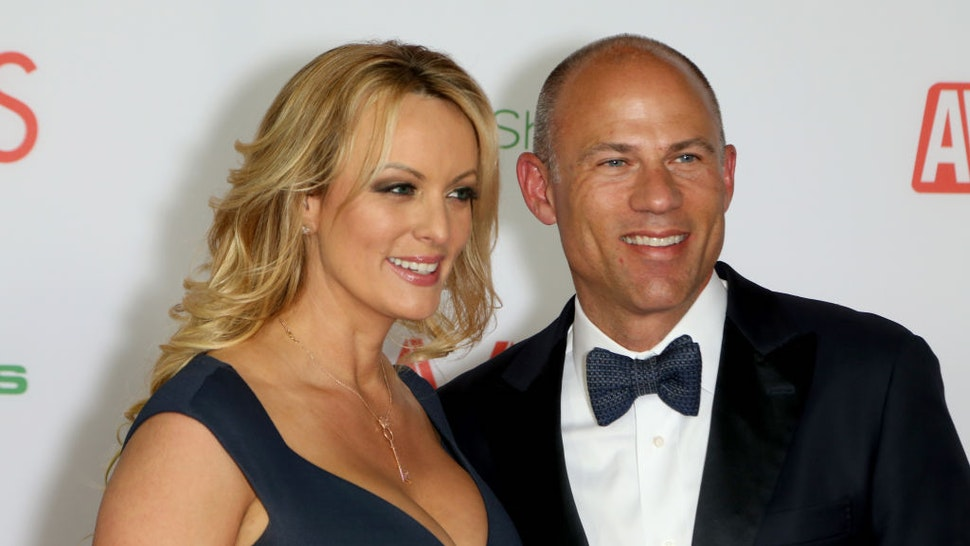 Adult film actress/director Stormy Daniels and attorney Michael Avenatti attend the 2019 Adult Video News Awards at The Joint inside the Hard Rock Hotel & Casino on January 26, 2019 in Las Vegas, Nevada. (Photo by Gabe Ginsberg/Getty Images)