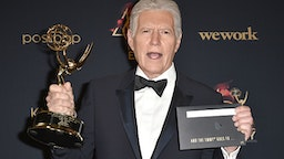 PASADENA, CALIFORNIA - MAY 05: Alex Trebek, winner of the Outstanding Game Show Host award, poses at the 46th Annual Daytime Emmy Awards - Press Room at Pasadena Civic Center on May 05, 2019 in Pasadena, California
