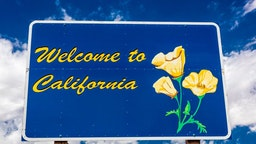 Welcome to California, Interstate 10. (Photo by: Visions of America/Universal Images Group via Getty Images)