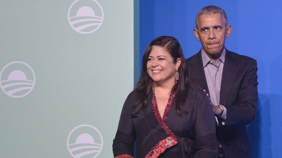 Former U.S. President Barack Obama (R) and his half-sister Maya Soetoro-ng (L) attend an Obama Foundation event in Kuala Lumpur, Malaysia, 13 December 2019. Obama and his wife Michelle are in Kuala Lumpur for the inaugural Leaders: Asia-Pacific conference, focused on promoting women's education in the region.