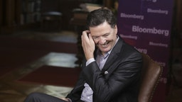 """James Comey, former director of the Federal Bureau of Investigation (FBI), reacts during a Bloomberg Television interview in Salzburg, Austria, on Friday, June 21, 2019. Comeysaid he hopes PresidentDonald Trumpisnt impeached because """"that would let the American people off the hook."""" Photographer:"""