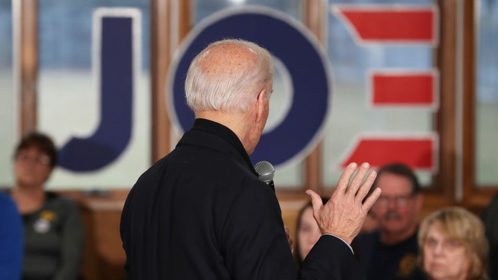 Democratic presidential candidate, former Vice President Joe Biden speaks during a campaign stop at Tipton High School on December 28, 2019 in Tipton, Iowa. The 2020 Iowa Democratic caucuses will take place on February 3, 2020, in the first nominating contest for the Democratic Party in choosing their presidential candidate to face Donald Trump in the 2020 election. (Photo by