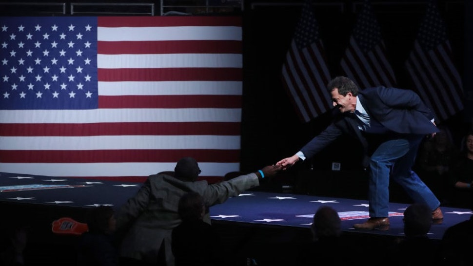 Democratic presidential candidate Montana governor Steve Bullock speaks at the Liberty and Justice Celebration at the Wells Fargo Arena on November 01, 2019 in Des Moines, Iowa. Fourteen of the candidates hoping to win the Democratic nomination for president are expected to speak at the Celebration.