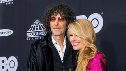 Howard Stern and Beth Ostrosky Stern attend the 33rd Annual Rock & Roll Hall of Fame Induction Ceremony at Public Auditorium on April 14, 2018 in Cleveland, Ohio