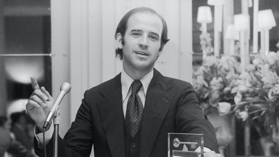 U.S. Senator Joseph Biden of Delaware addresses Drexel University Alumni. Biden was the youngest U.S. Senator at that time.