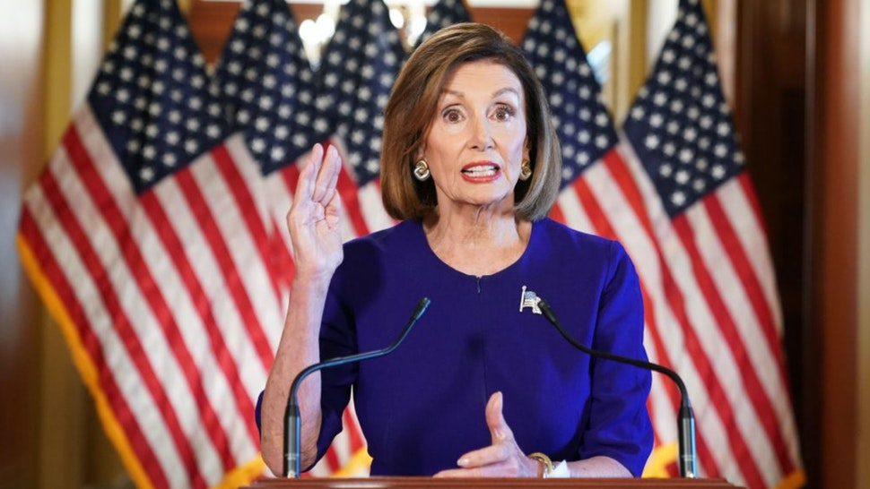US Speaker of the House Nancy Pelosi, Democrat of California, announces a formal impeachment inquiry of US President Donald Trump on September 24, 2019, in Washington, DC.