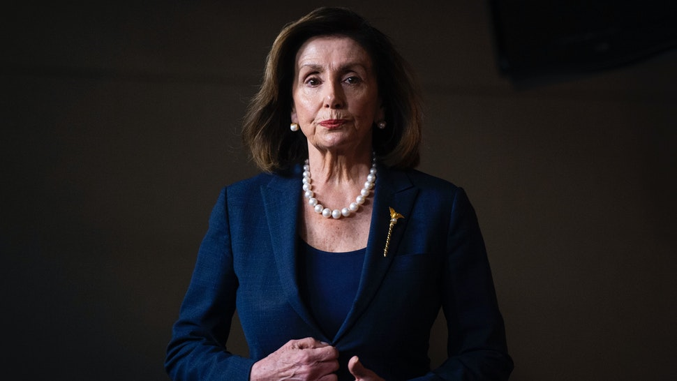 Speaker of the House Nancy Pelosi, D-Calif., arrives for her weekly news conference in the Capitol Visitor Center on Thursday, January 16, 2020.