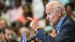 Democratic presidential candidate and former US Vice President Joe Biden addresses a crowd at a town hall event at Clinton College on August 29, 2019 in Rock Hill, South Carolina.