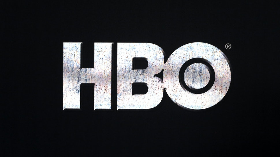 Close up of the HBO logo at the Game of Thrones Premiere, held at Waterfront Hall, Belfast.