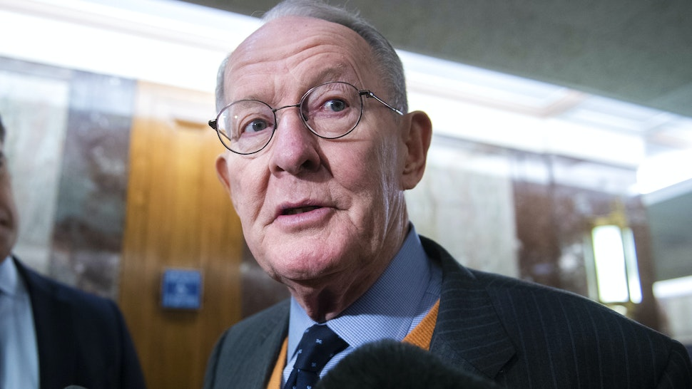 UNITED STATES - JANUARY 24: Chairman Lamar Alexander, R-Tenn., arrives for a senators briefing with government health officials on the coronavirus at the Senate Health, Education, Labor, and Pensions Committee in Dirksen Building on Friday, January 24, 2020.