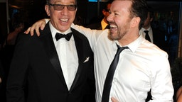 (EXCLUSIVE, Premium Rates Apply) (EXCLUSIVE COVERAGE) Actors Tim Allen and Ricky Gervais attend HBO's 68th Annual Golden Globe Awards Official After Party held at The Beverly Hilton hotel on January 16, 2011 in Beverly Hills, California.