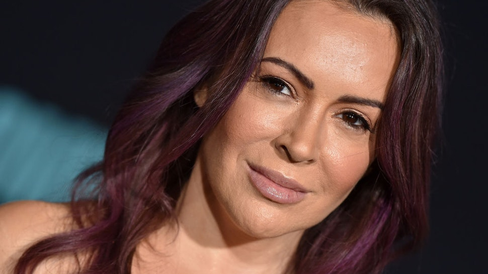 """Alyssa Milano attends the special screening of Liongate's """"Bombshell"""" at Regency Village Theatre on December 10, 2019 in Westwood, California. (Photo by Axelle/Bauer-Griffin/FilmMagic)"""