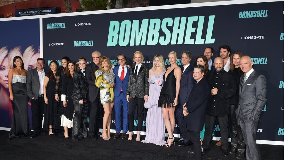 """Cast and crew of Bombshell attend a Special Screening of Liongate's """"Bombshell"""" at Regency Village Theatre on December 10, 2019 in Westwood, California."""