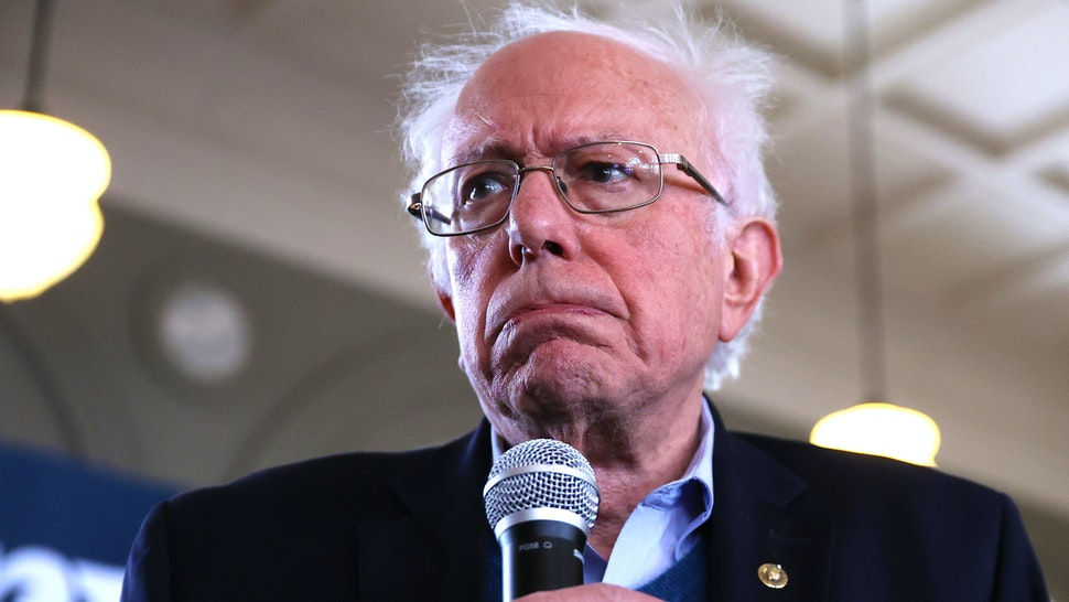 PERRY, IOWA - JANUARY 26: Democratic presidential candidate Sen. Bernie Sanders (I-VT) holds a campaign event at La Poste January 26, 2020 in Perry, Iowa. A New York Times/Siena College poll conducted January 20-23 places Sanders at the top of a long list of Democrats seeking the presidential nomination with 25-percent of likely Iowa caucus-goers naming him as their first choice. Candidates former South Bend, Indiana Mayor Pete Buttigieg, former Vice President Joe Biden and Sen. Elizabeth Warren (D-MA) are polling at 18, 17 and 15-percent, respectively.