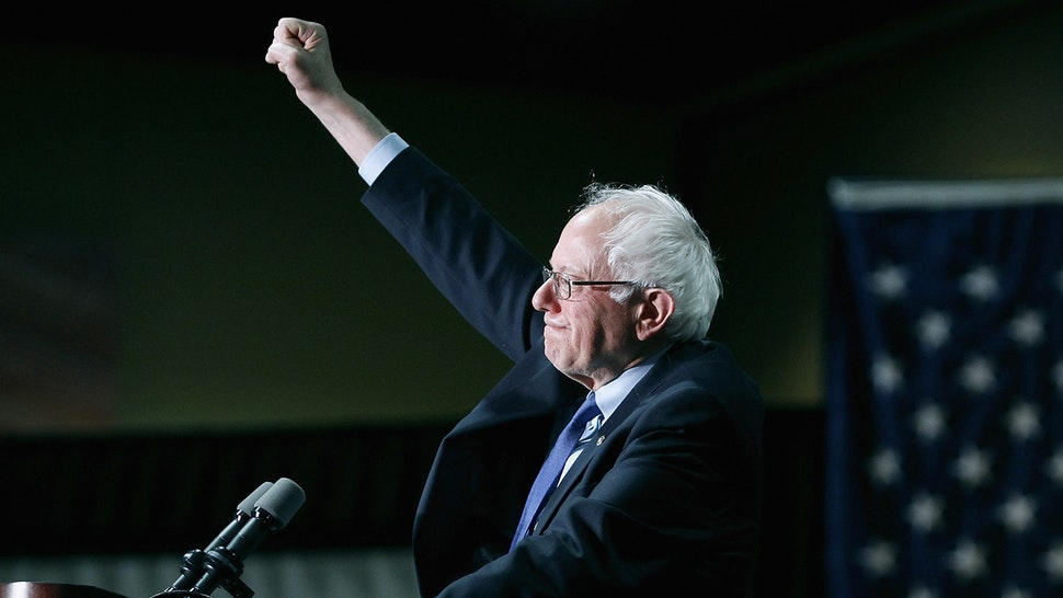 PHOENIX, AZ - MARCH 15: Democratic presidential candidate Sen. Bernie Sanders (D-VT) speaks to a crowd gathered at the Phoenix Convention Center during a campaign rally on March 15, 2016 in Phoenix, Arizona. Hillary Clinton won the Democratic primary elections in Florida, North Carolina and Ohio, while Missouri and Illinois remain tight races.