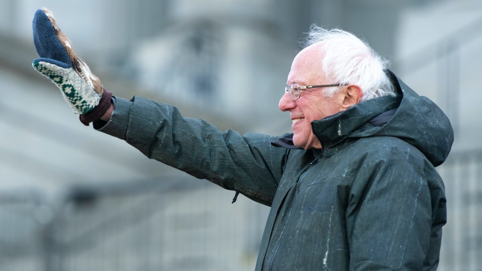 COLUMBIA, SC - JANUARY 20: Democratic presidential candidate, Sen. Bernie Sanders (I-VT) waves to the crowd during King Day at the Dome March and Rally on January 20, 2020 in Columbia, South Carolina. The event, first held in 2000 in opposition to the display of the Confederate battle flag at the statehouse, attracted more than a handful Democratic presidential candidates to the early primary state.