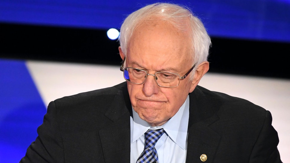 Democratic presidential hopeful Vermont Senator Bernie Sanders speaks during the seventh Democratic primary debate of the 2020 presidential campaign season co-hosted by CNN and the Des Moines Register at the Drake University campus in Des Moines, Iowa on January 14, 2020.