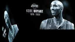 DALLAS, TEXAS - JANUARY 27: The Dallas Stars honor NBA legend Kobe Bryant during a pregame moment of silence before taking on the Tampa Bay Lightning at American Airlines Center on January 27, 2020 in Dallas, Texas.
