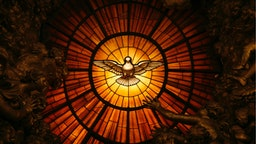 A detail showing the Holy Spirit from Cathedra Petri by Gian Lorenzo Bernini in St. Peter's Basilica.