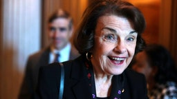 WASHINGTON, DC - FEBRUARY 05: U.S. Sen. Dianne Feinstein (D-CA) arrives at a weekly Senate Democratic Policy Luncheon at the U.S. Capitol February 5, 2019 in Washington, DC. Senate Democrats held the weekly policy lunch to discuss Democratic agenda.