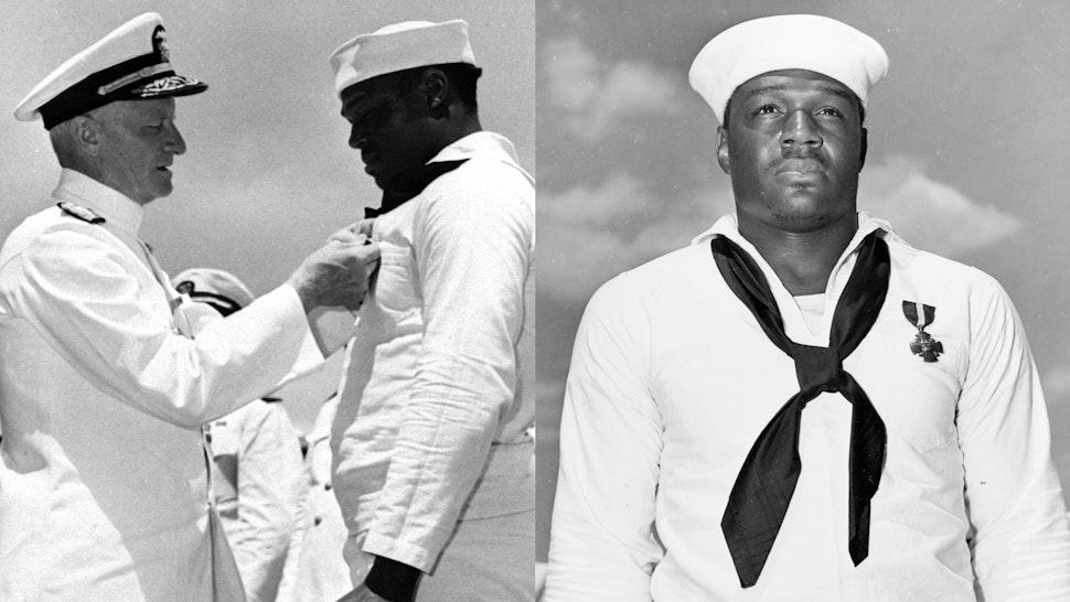 Dorie Miller Receiving Navy Cross