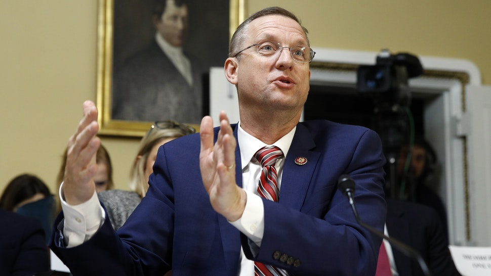 WASHINGTON, DC - DECEMBER 17: House Judiciary Committee ranking member Rep. Doug Collins, R-Ga., speaks during a meeting of the house committee on rules to consider H. Res. 755 Impeaching Donald John Trump, President of the United States, for high crimes and misdemeanors on Capitol Hill on December 17, 2019 in Washington, DC.