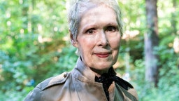 WARWICK, NEW YORK - JUNE 21, 2019: E. Jean Carroll at her home in Warwick, NY. Carroll claims that Donald Trump sexually assaulted her in a dressing room at a Manhattan department store in the mid-1990s. Trump denies knowing Carroll.