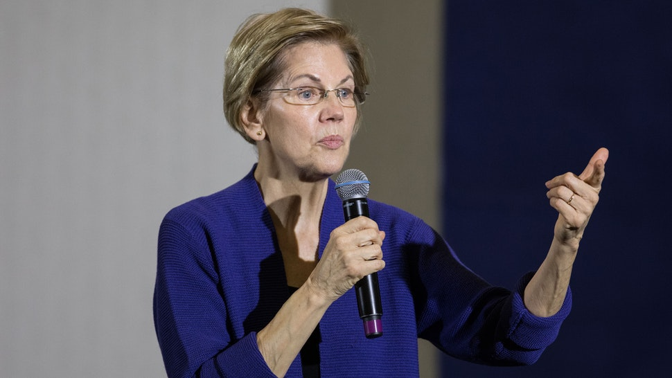 CONCORD, NH - JANUARY 02: Democratic presidential candidate Sen. Elizabeth Warren (D-MA) speaks on stage during her first campaign event of 2020 on January 2, 2020 in Concord, New Hampshire. The Iowa caucuses, the first nominating contest in the Democratic presidential primary season, will take place on February 3.