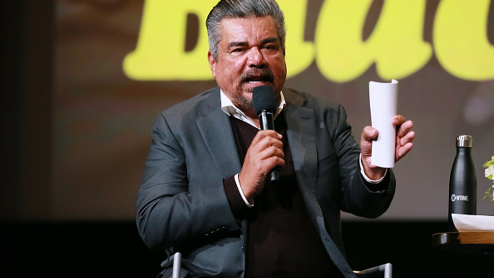 "NORTH HOLLYWOOD, CALIFORNIA - MAY 14: George Lopez during the panel discussion at the FYC Red Carpet Event For Showtimes' ""Black Monday"" at Saban Media Center on May 14, 2019 in North Hollywood, California."