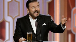 73rd ANNUAL GOLDEN GLOBE AWARDS -- Pictured: Ricky Gervais, Host at the 73rd Annual Golden Globe Awards held at the Beverly Hilton Hotel on January 10, 2016 --