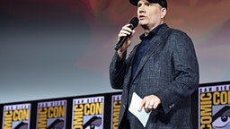 AN DIEGO, CALIFORNIA - JULY 20: President of Marvel Studios Kevin Feige at the San Diego Comic-Con International 2019 Marvel Studios Panel in Hall H on July 20, 2019 in San Diego, California. (Photo by Alberto E. Rodriguez/Getty Images for Disney)