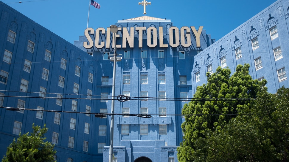 he exterior of the Scientology building on Fountain Avenue, East Hollywood which serves as the groups west coast headquarters. The building was designed by Eastern Columbia architect Claud Beelman, and was a former hospital. (Photo by Epics/Getty Images)